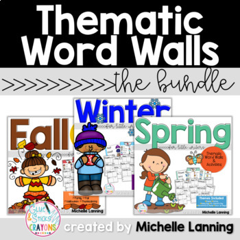 Thematic Word Walls for Little Writers *The BUNDLE*