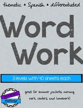 Thematic Word Work [Spanish]