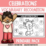 Thematic Words Celebrations | Language Worksheets | Great for ESL