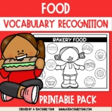Thematic Words Food | Language Worksheets | Great for ESL