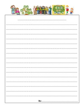Thematic Writing Paper Resource