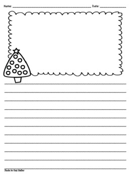 Thematic Writing Paper {with clip art}