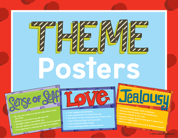 Theme Posters in Literature to Find and Determine Literary Theme