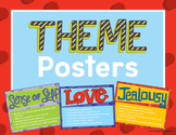 Theme Posters - Identify  Theme in Literature Determine Theme Classroom Posters