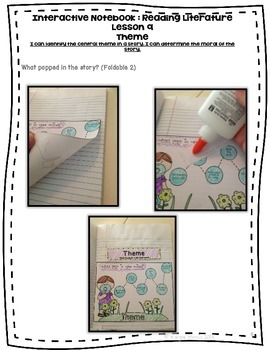 Theme Foldables for Interactive Notebooks