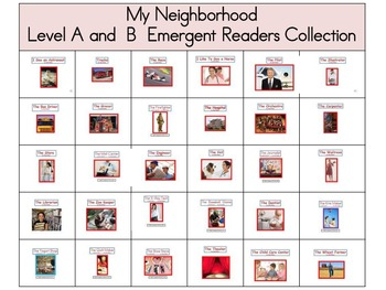 Theme 2 My Neighborhood Emergent Readers Level A and B