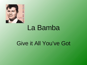 Theme 2 Selection 2 5th Grade La Bamba Vocabulary Powerpoint