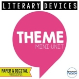 3 Theme Lesson for Teaching Theme - Passages and Worksheet
