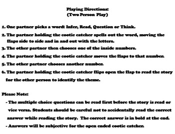 Finding Theme 6th 5th 4th Grade Reading Comprehension Passages