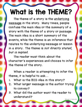 Theme Reading Passage and Task Cards FREE