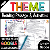 Theme Distance Learning Reading Passage and Task Cards FREE | Theme Activities