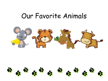 Theme 3 Animals Mind Map and Writing Project