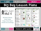 Theme #4: Big Day Lesson Plans {{EDITABLE}}