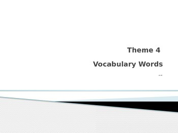 Rigby Vocabulary theme 4