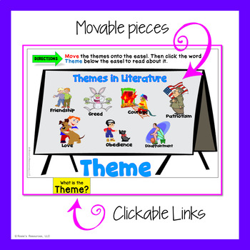 Themes in Literature - Digital Interactive Notebook for Google Drive