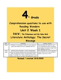 Theme- 4th Grade McGraw Hill Reading Wonders Series RWW U2W1