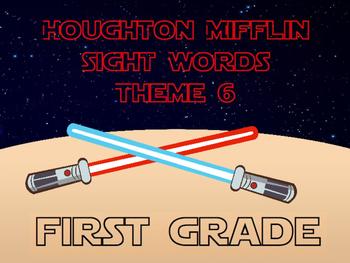 Theme 6 Houghton Mifflin sight words {1st Grade} STAR WARS INSPIRED