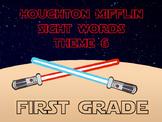 Theme 6 Houghton Mifflin sight words {1st Grade} STAR WARS