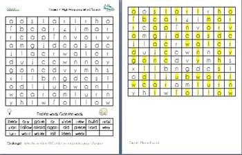 Theme 7 Houghton Mifflin High Frequency Word Search