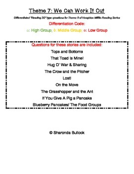 Theme 7: We Can Work It Out Differentiated Reading Compreh
