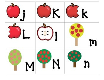 Theme ABC's:  Apples ABC's