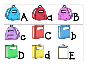 Theme ABC's School Supplies
