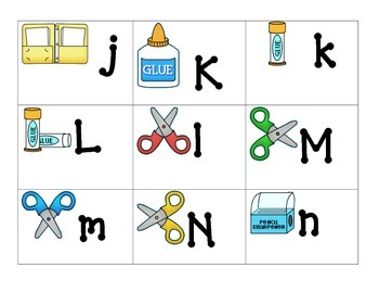 Theme ABC's:  School Supplies ABC's
