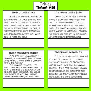 FREEBIE! Theme Activity or Center - CCSS RL.5.2