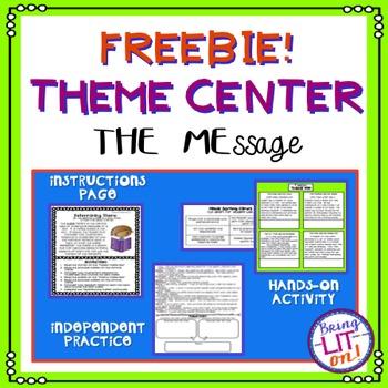 FREEBIE! Theme Activity or Center - CCSS RL.5.2