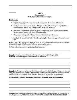 Theme Analysis Bundle