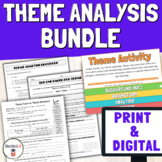 Finding Theme Worksheets & Activities Bundle | Distance Learning