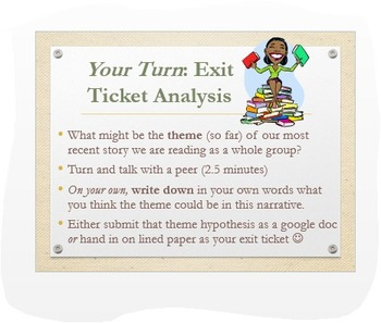 Analyzing Theme: Common Core Overview w/Engaging Exit Activity!