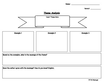 Theme Analysis Graphic Organizer