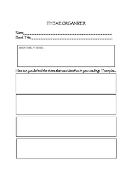 Theme Analysis Lesson Plans and Organizers- Common Core Connection