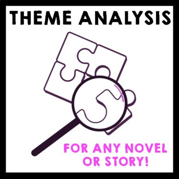 Theme Analysis for ANY Novel or Story - Common Core Aligned