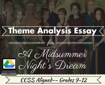 Shakespeare's A Midsummer Night's Dream: Theme Analysis-Digital and Printable!