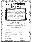 Theme Anchor Chart Freebie