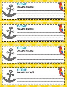 Theme Anchor Chart Poster- Common Core Aligned