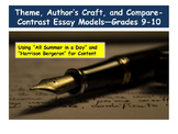 Theme, Author's Craft, and Compare-contrast Essay Models—G