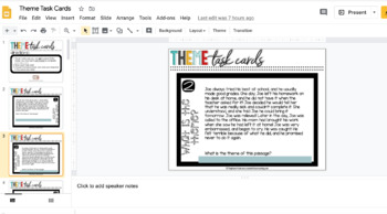 Theme / Author's Message Task Cards - Differentiated!