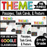 Theme Passages, Task Cards, and Posters BUNDLE