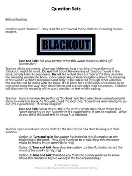 Theme and Accountable Talk: Blackout by John Rocco