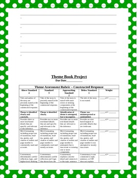 Theme Book Project