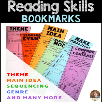 Reading Skills Interactive Bookmarks: Theme, Mood, POV, and Many More