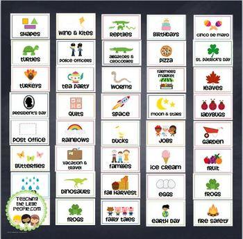 Theme Box Labels, Set Two