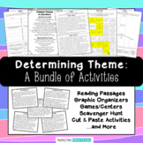 Teaching Theme Activities Bundle - Teaching Theme in Literature Lessons