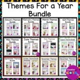 Theme Math and Writing Activity and Worksheet Bundle for an Entire Year