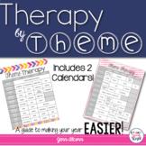 Theme Calendar for Speech Therapy!