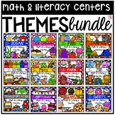 Theme Math and Literacy Centers BUNDLE for Preschool, Pre-K, TK, & Kindergarten