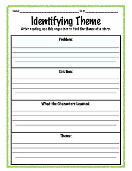 Theme (Central Message) Organizer